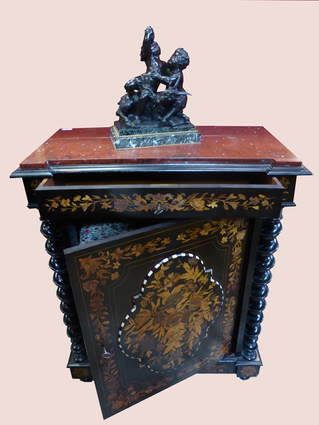 Buffet meuble d'appui marqueté Napoléon III -photo-6