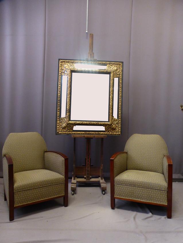 Miroir à Parecloses Style Louis XIII