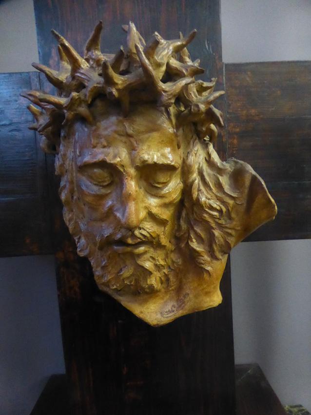 Tête de Christ signée Albert Figay ( 1907-2004 )-photo-3