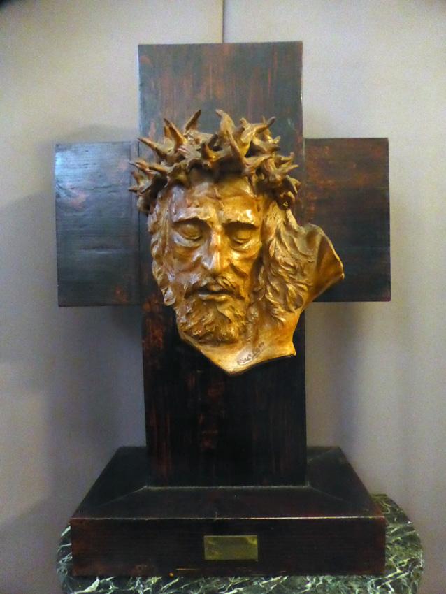 Tête de Christ signée Albert Figay ( 1907-2004 )-photo-4