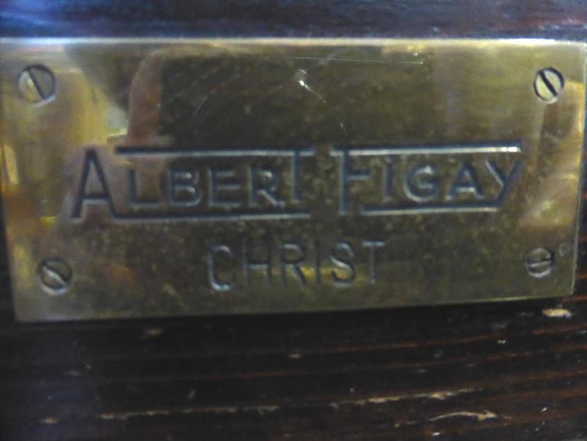 Tête de Christ signée Albert Figay ( 1907-2004 )-photo-6