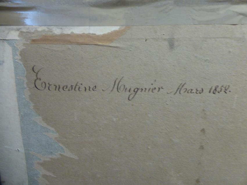 Pastel Signed From Nineteenth Century-photo-2