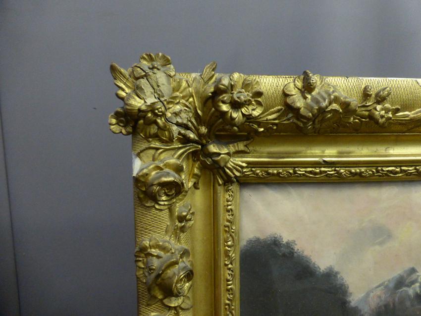 Pastel Signed From Nineteenth Century-photo-3
