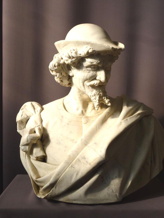 Importante Sculpture En Marbre Signée Benvenuti