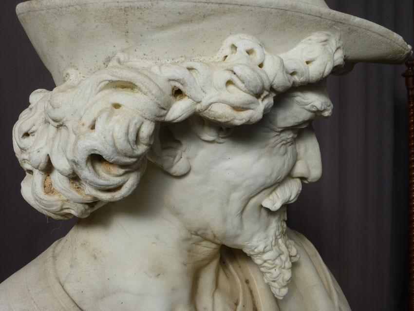 Importante Sculpture En Marbre Signée Benvenuti-photo-4