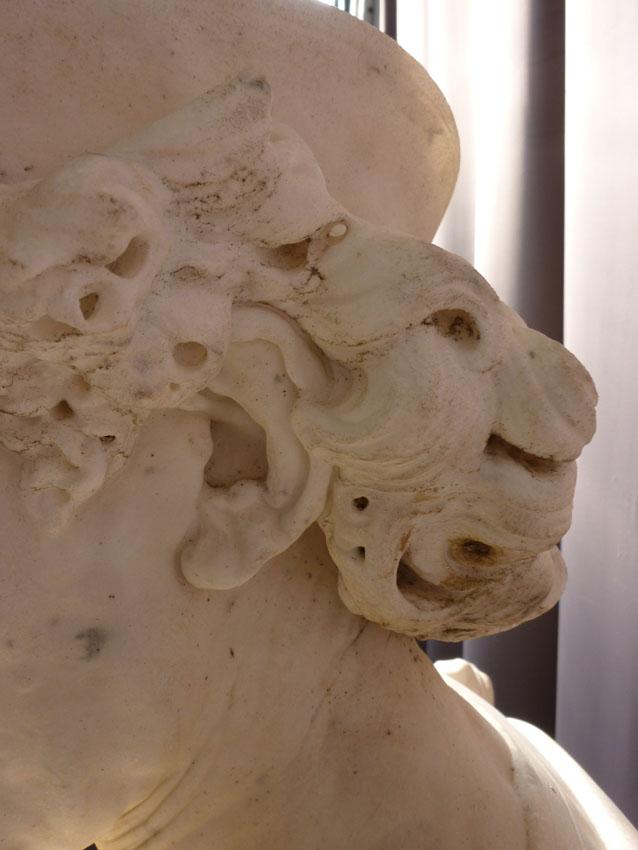 Importante Sculpture En Marbre Signée Benvenuti-photo-2