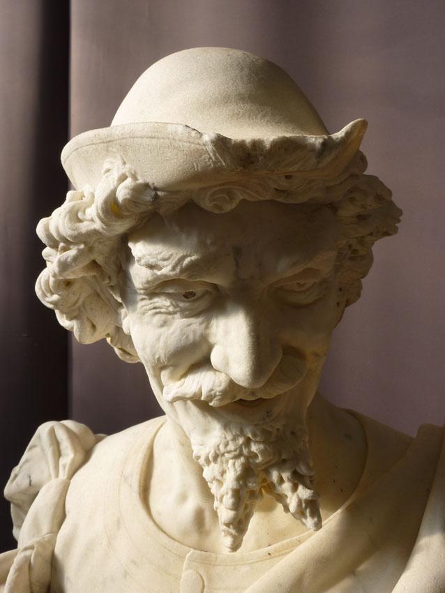 Importante Sculpture En Marbre Signée Benvenuti-photo-3