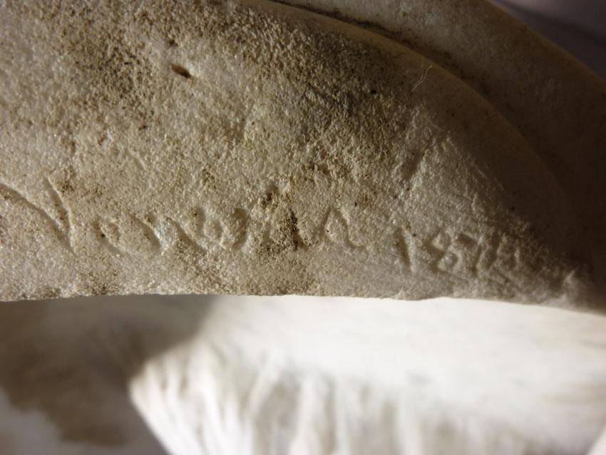 Importante Sculpture En Marbre Signée Benvenuti-photo-5