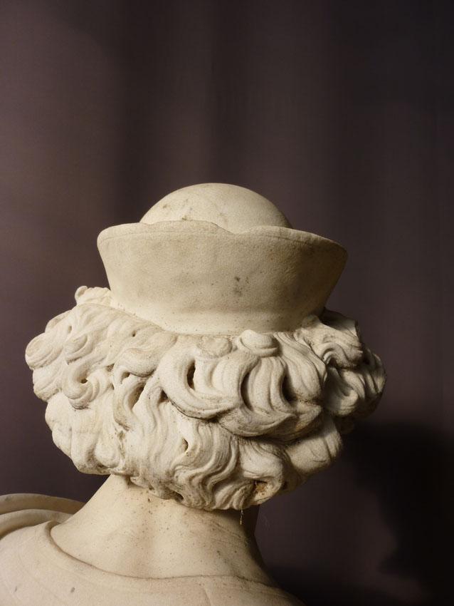 Importante Sculpture En Marbre Signée Benvenuti-photo-8