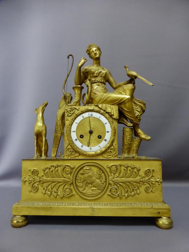 Pendule En Bronze Doré époque Empire