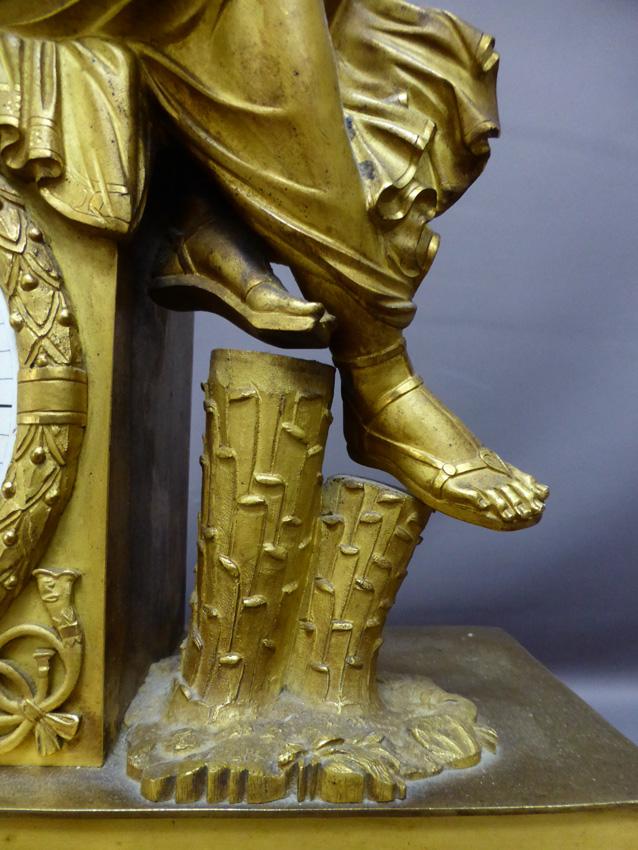 Pendule En Bronze Doré époque Empire-photo-3