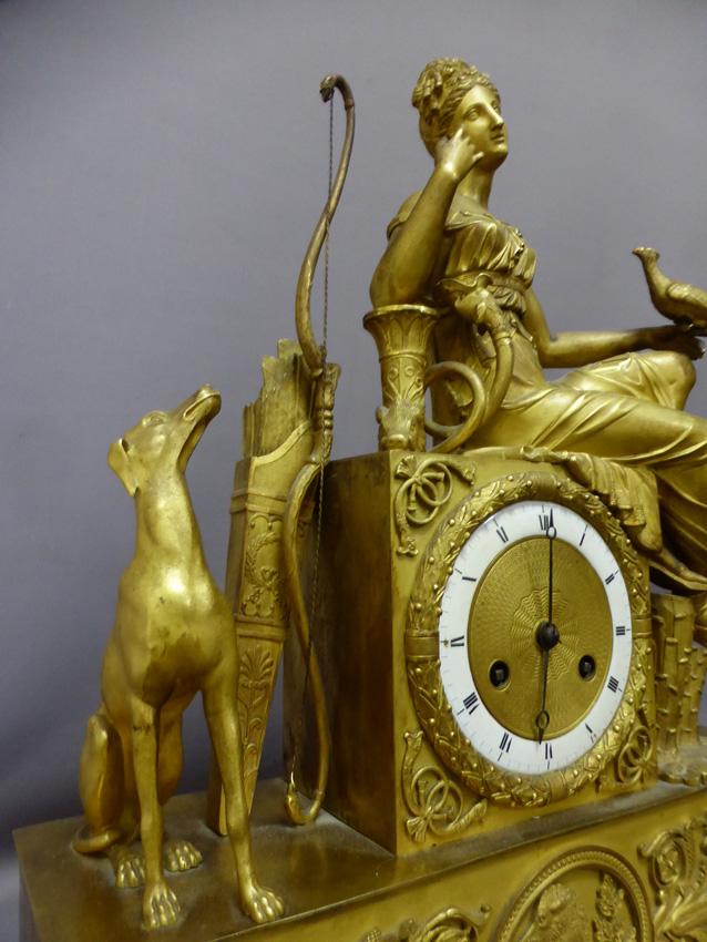 Pendule En Bronze Doré époque Empire-photo-2