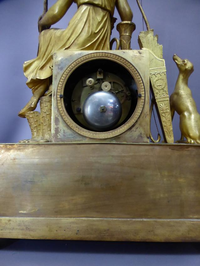 Pendule En Bronze Doré époque Empire-photo-4