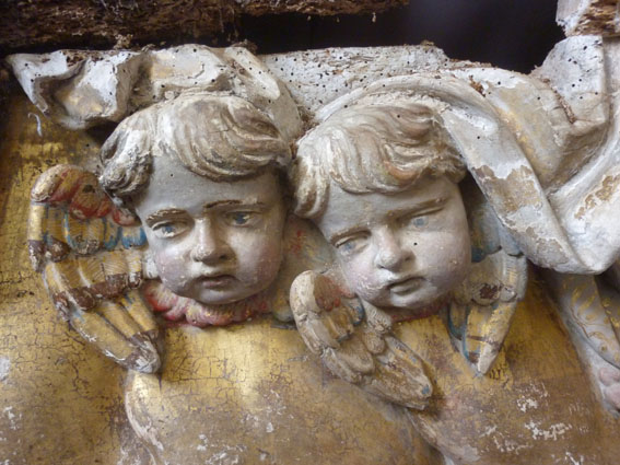 Importante Sculpture En Bois Doré XVIIIème