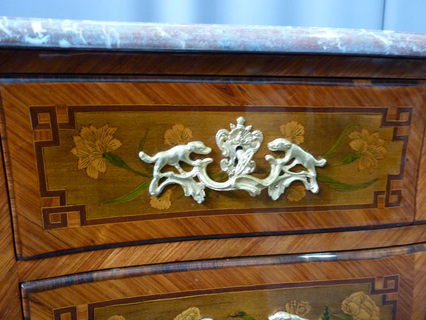 In Marquetry Commode Louis XV-photo-3