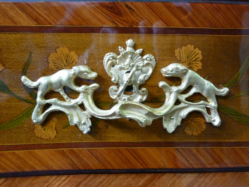 In Marquetry Commode Louis XV-photo-1