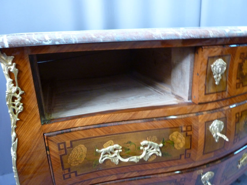 In Marquetry Commode Louis XV-photo-2