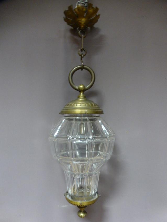 Lanterne En Verre Et Bronze