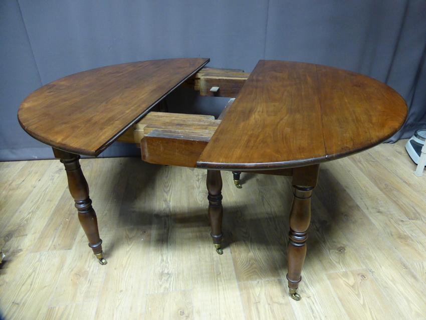 Table à Allonges En Acajou XIX -photo-2