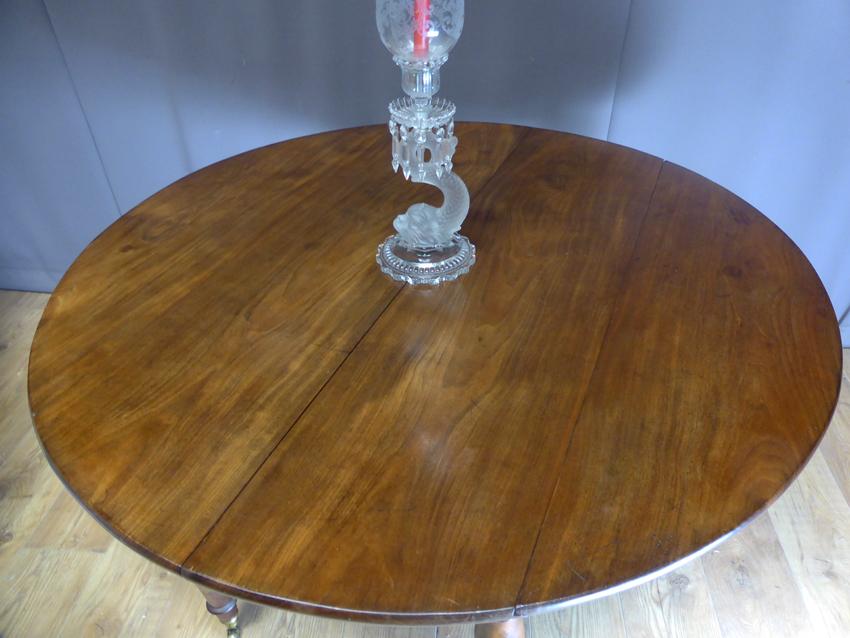 Table à Allonges En Acajou XIX -photo-1