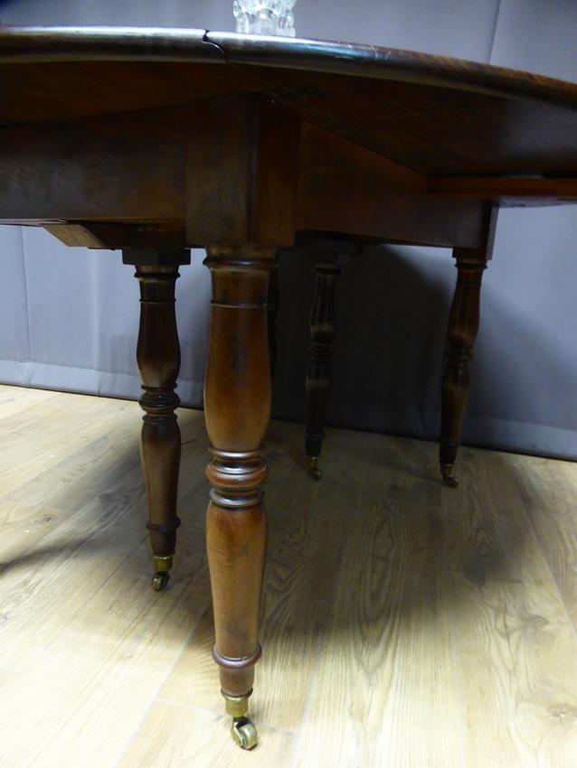 Table à Allonges En Acajou XIX -photo-3