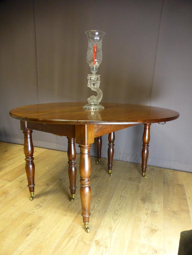 Table à Allonges En Acajou XIX -photo-4