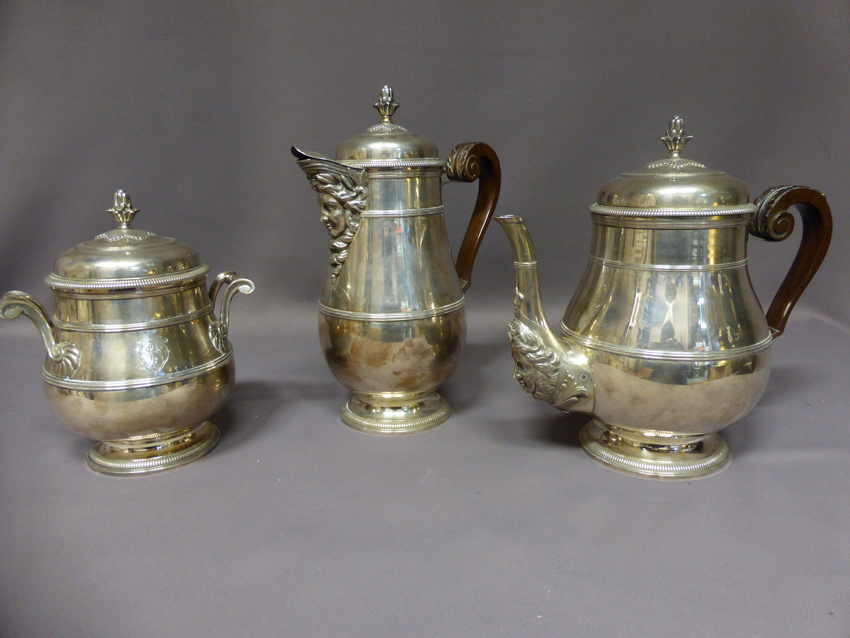 Paul Canaux Coffee And Tea Set Sterling Silver