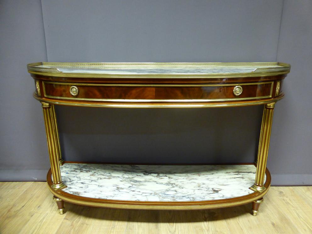 Grande console Louis XVI