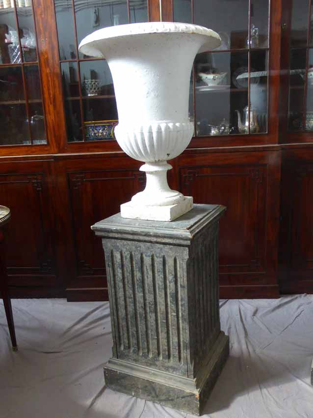 Vase Médicis En Fonte XIX
