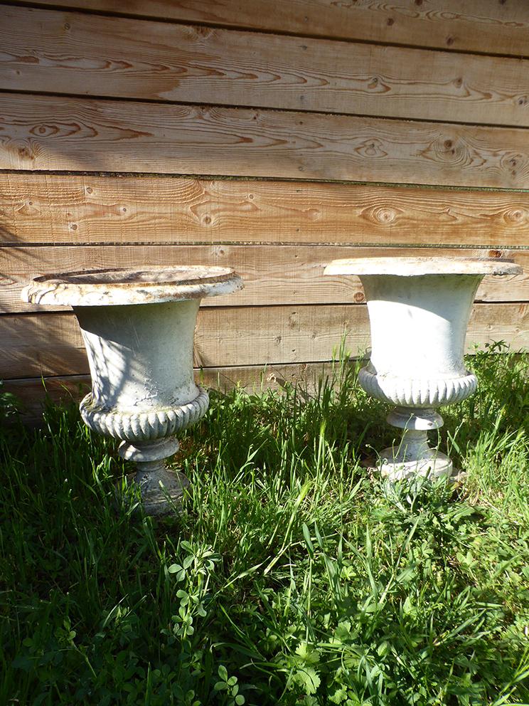 Pair Of Medici Vases Cast Iron XIX-photo-3