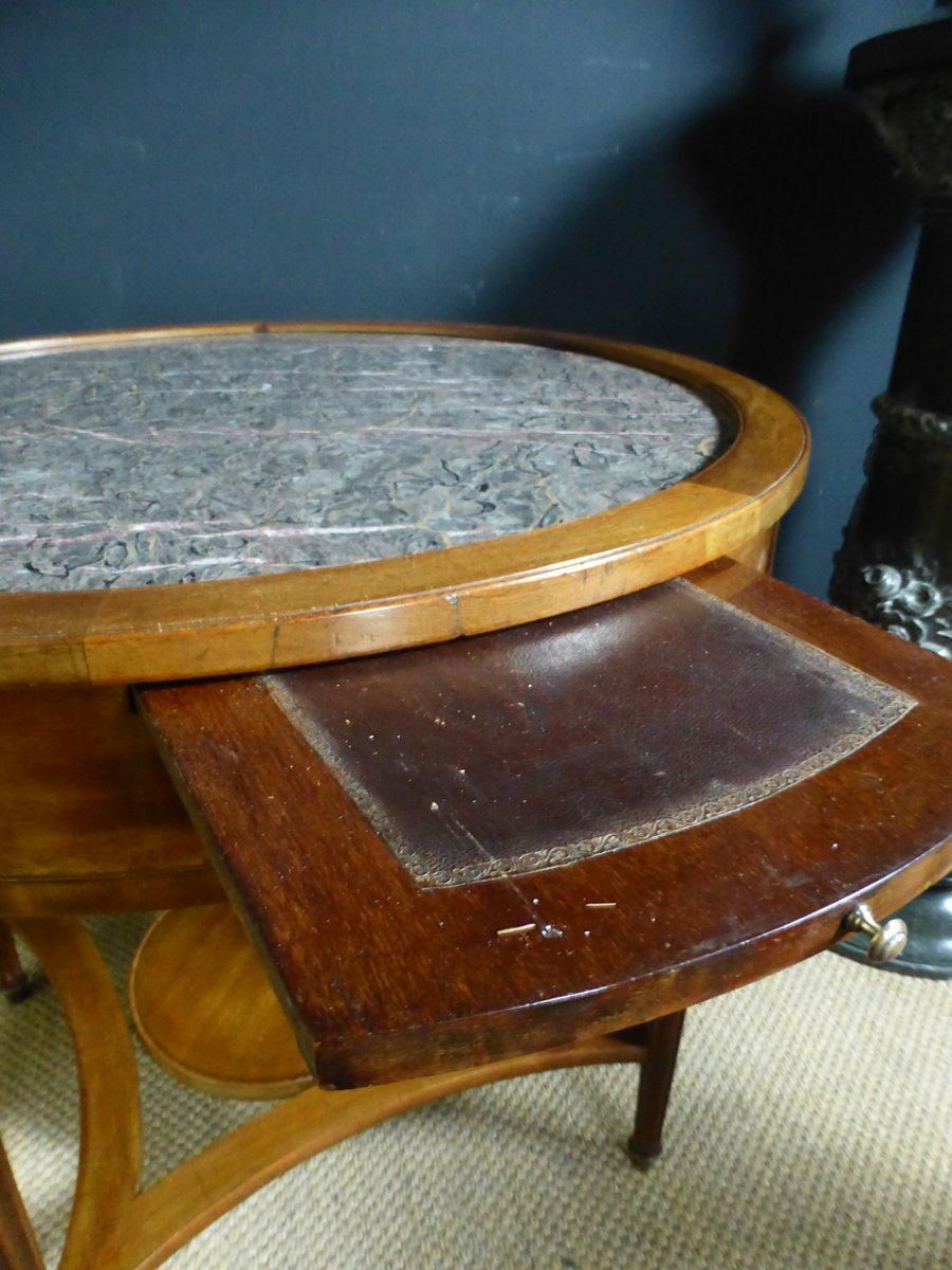 Table Bouillotte En Acajou