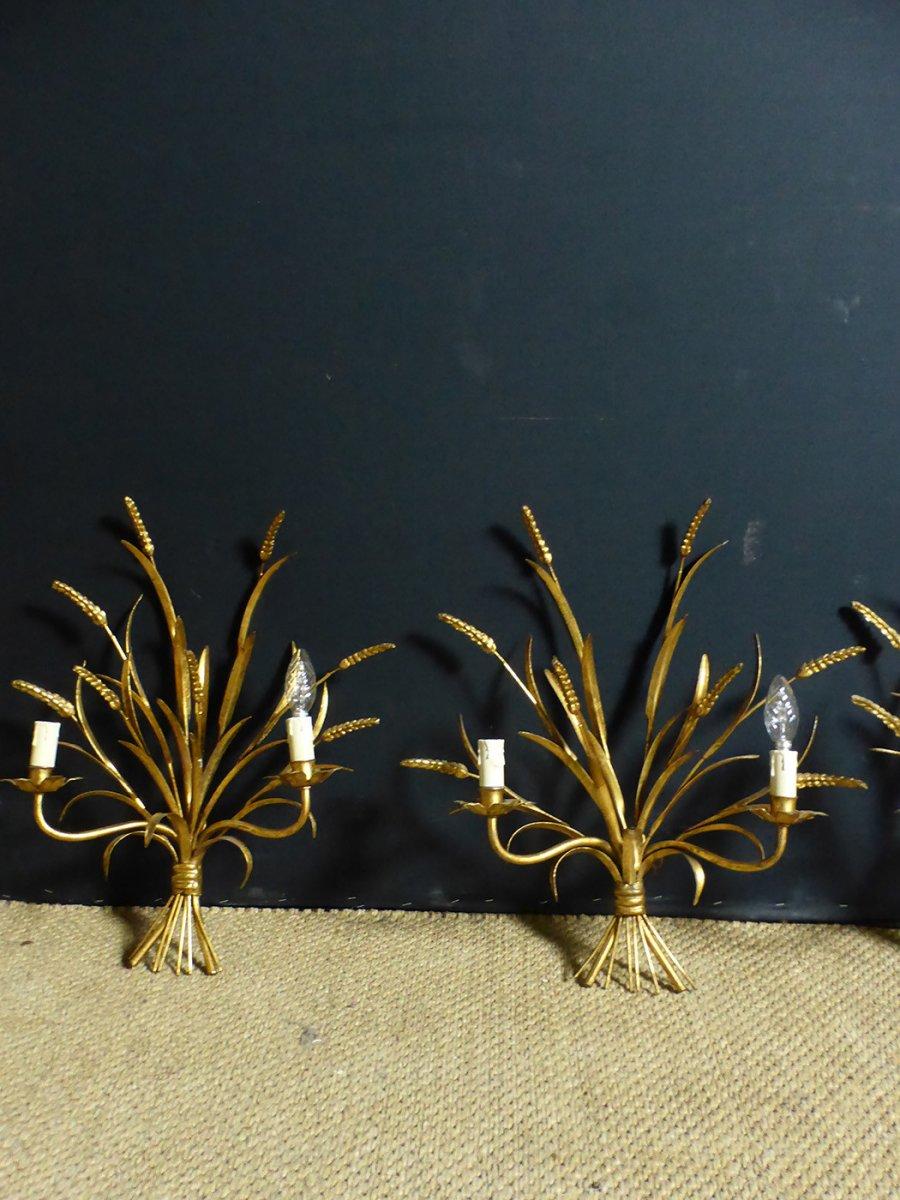 Golden Iron Sconces