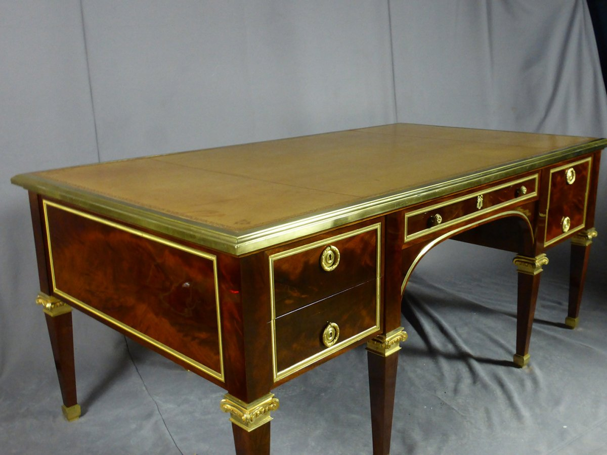 Desk 8 Feet Mahogany-photo-3