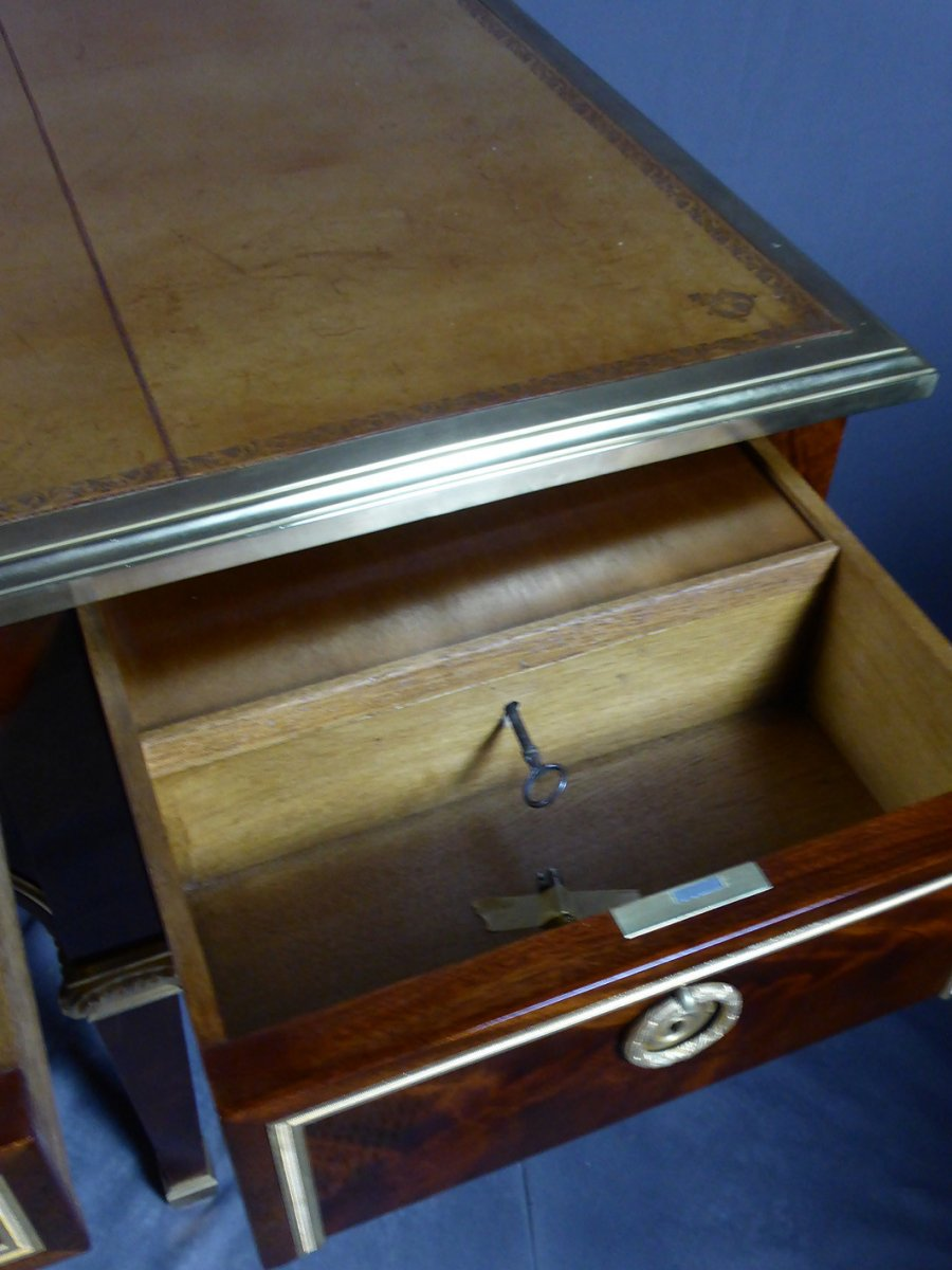 Desk 8 Feet Mahogany-photo-6