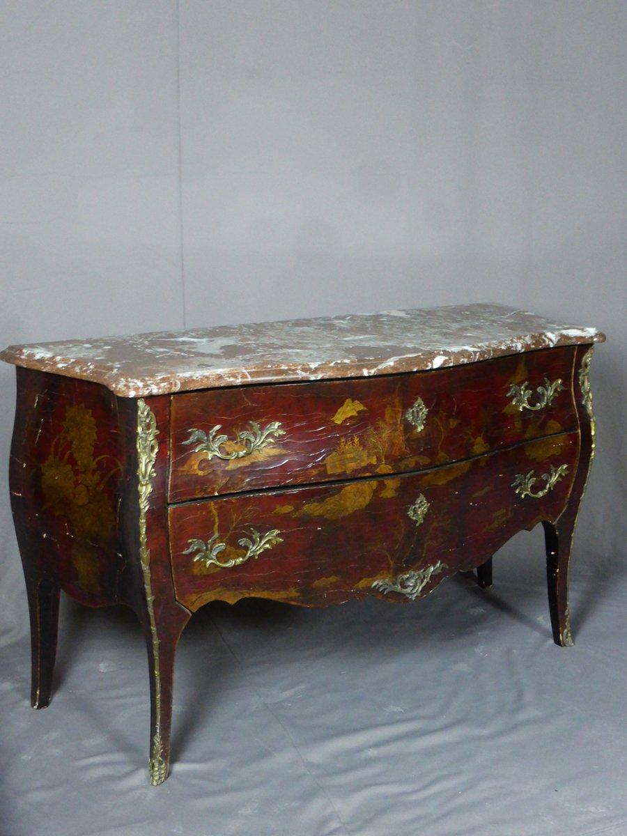Commode Style Louis XV En Laque