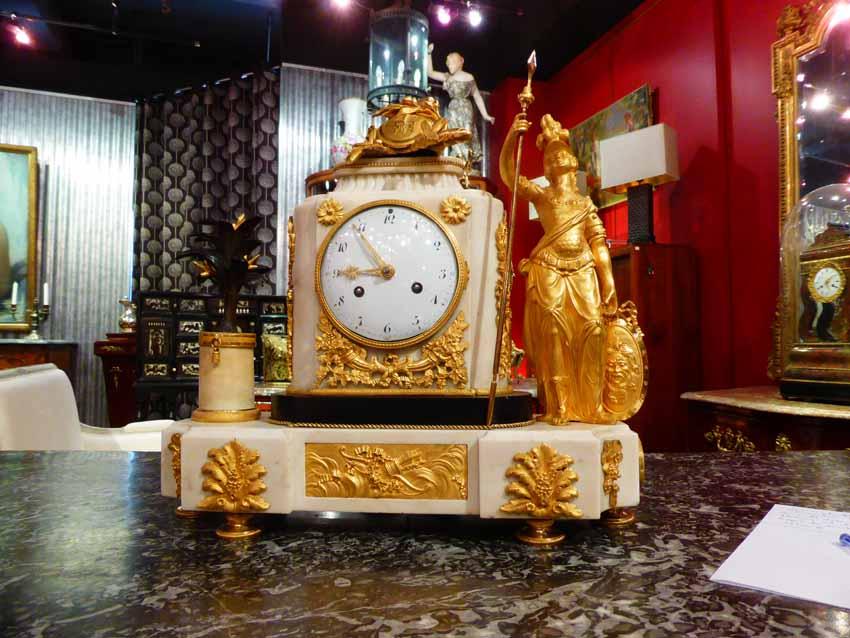 Louis XVI Clock A La Minerve