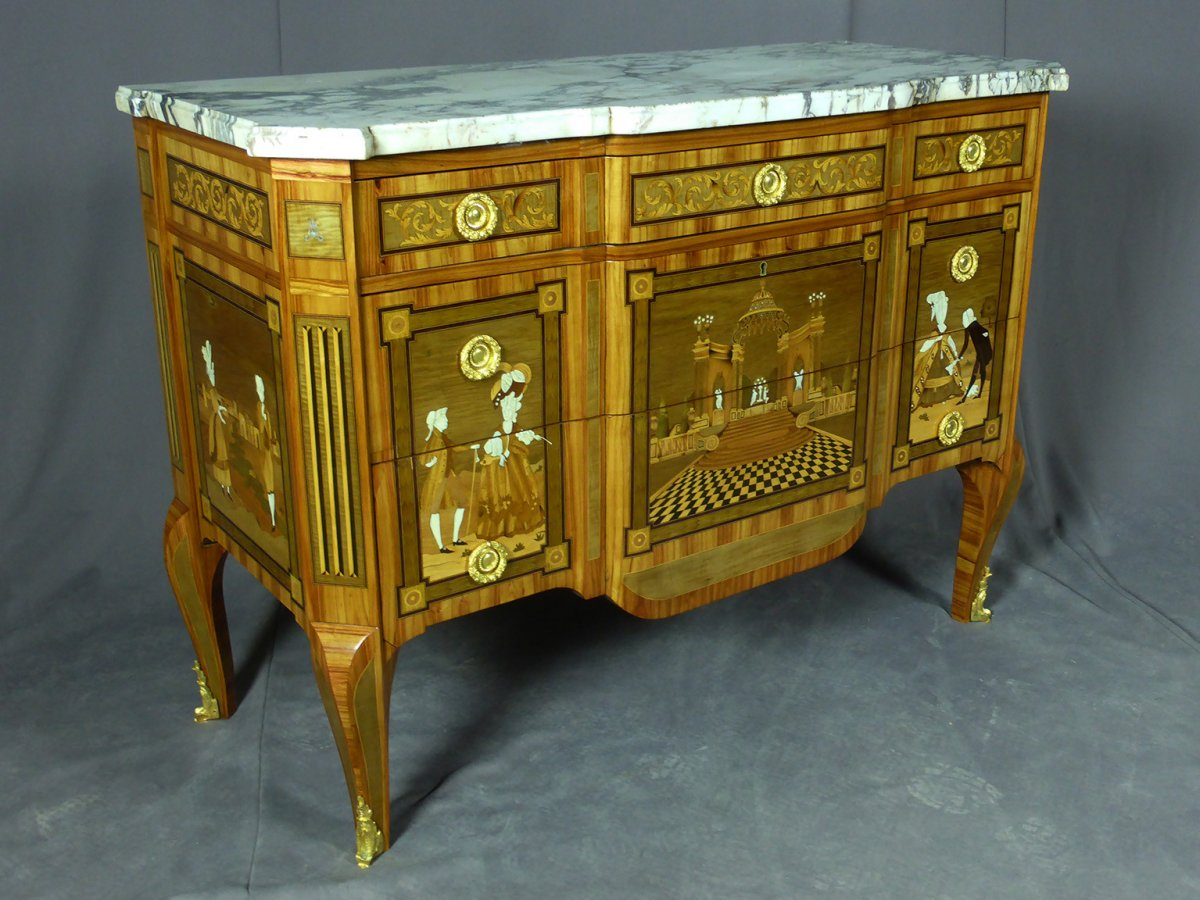 Commode Transition Louis XV Louis XVI