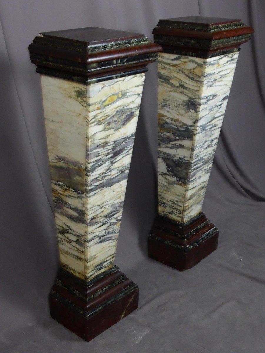 Pair Of Napoleon III Marble Sheaths-photo-1