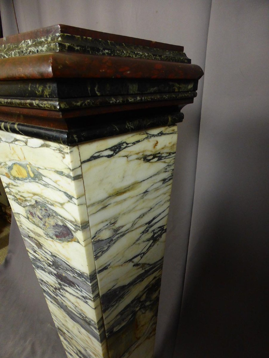 Pair Of Napoleon III Marble Sheaths-photo-2