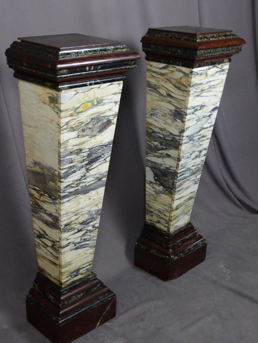 Pair Of Napoleon III Marble Sheaths