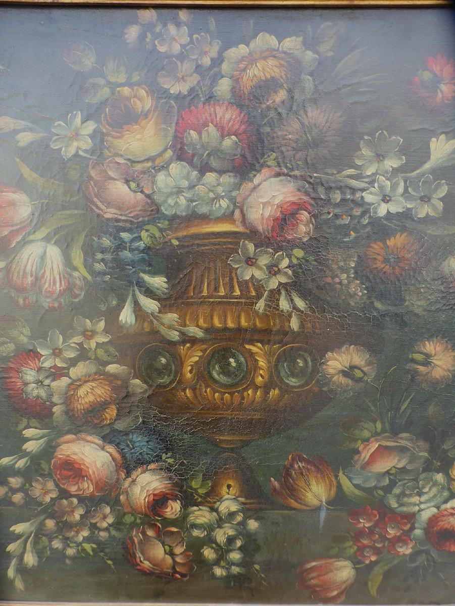 Tableau XIX Bouquet De Fleurs-photo-3