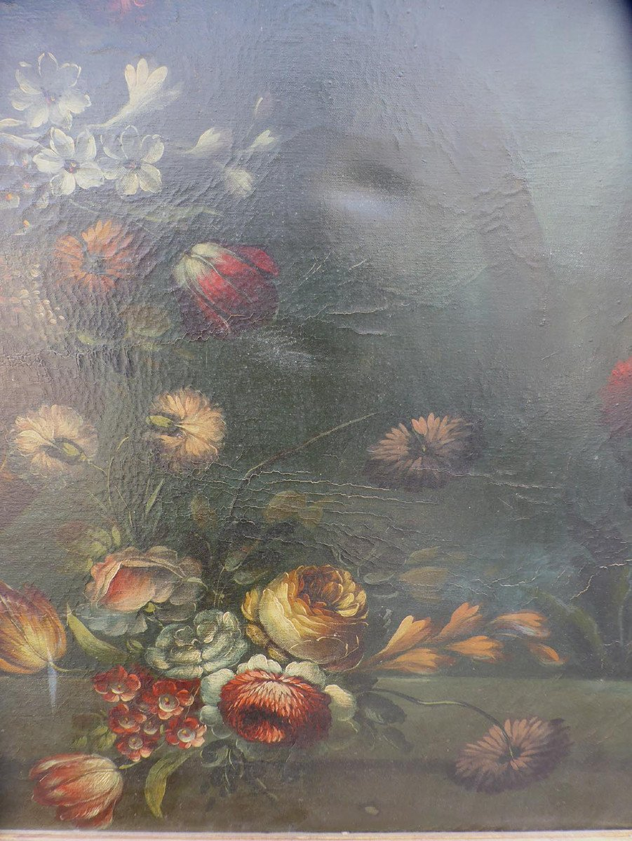 Tableau XIX Bouquet De Fleurs-photo-4