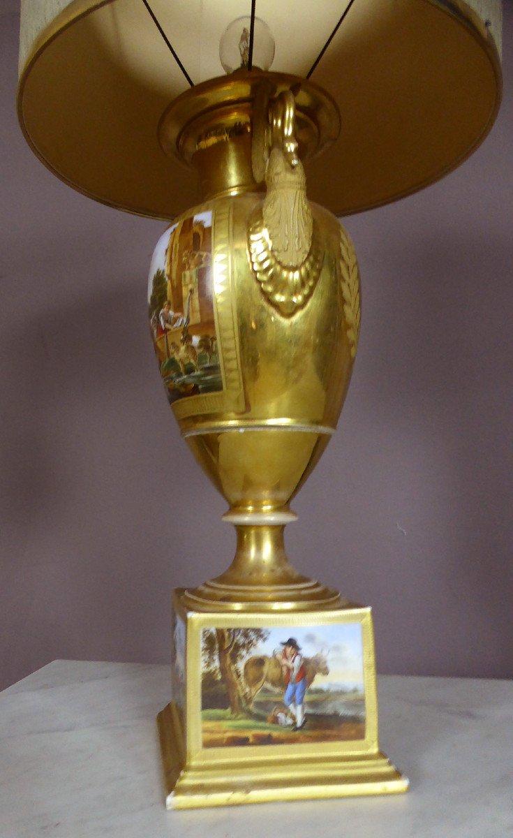 Lampe En Porcelaine De Paris De Style Empire-photo-4
