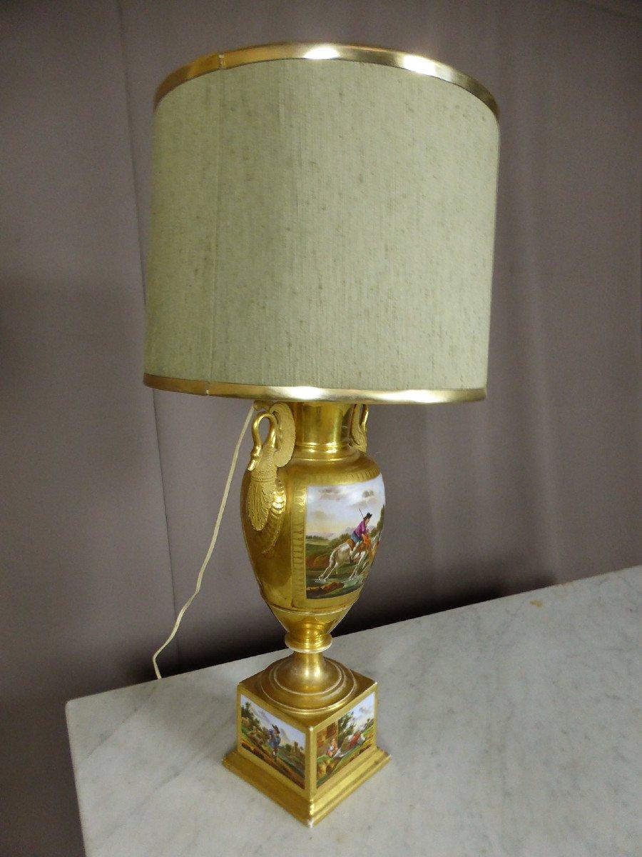 Lampe En Porcelaine De Paris De Style Empire-photo-5