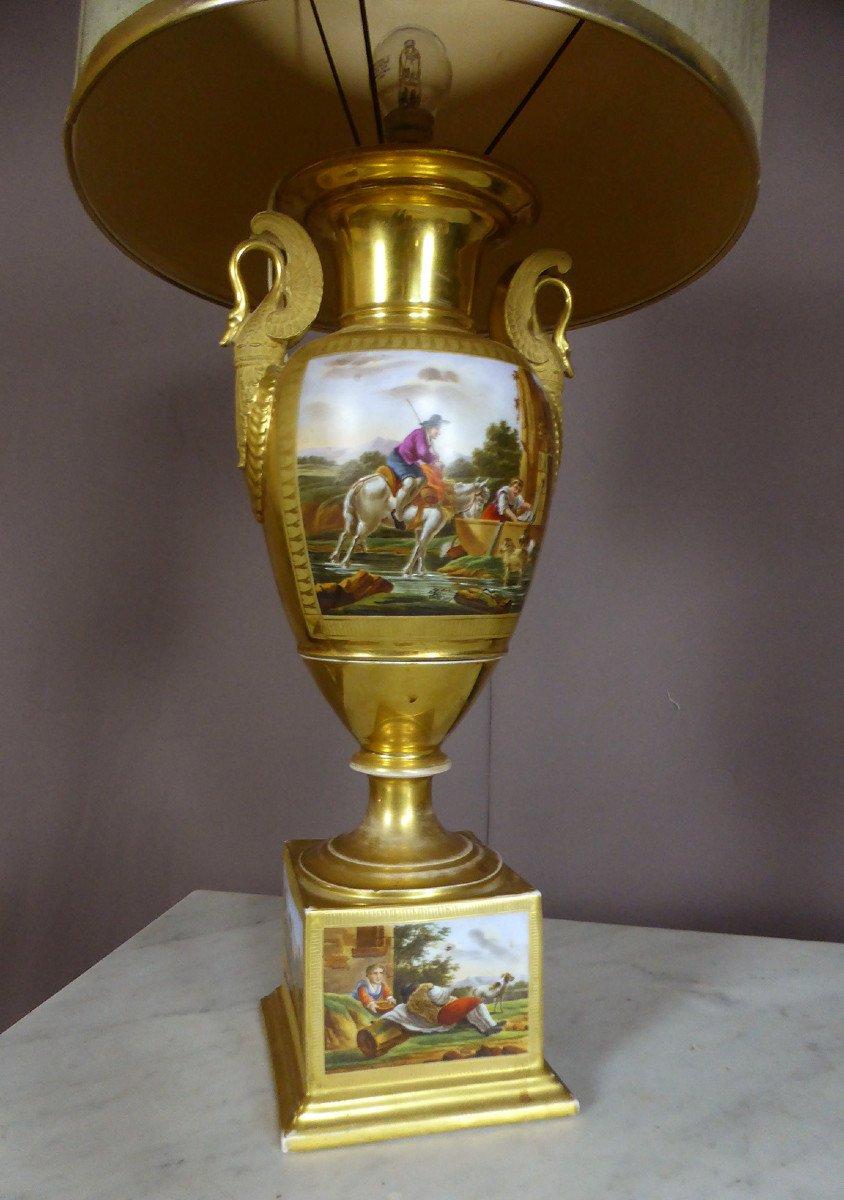 Lampe En Porcelaine De Paris De Style Empire-photo-7