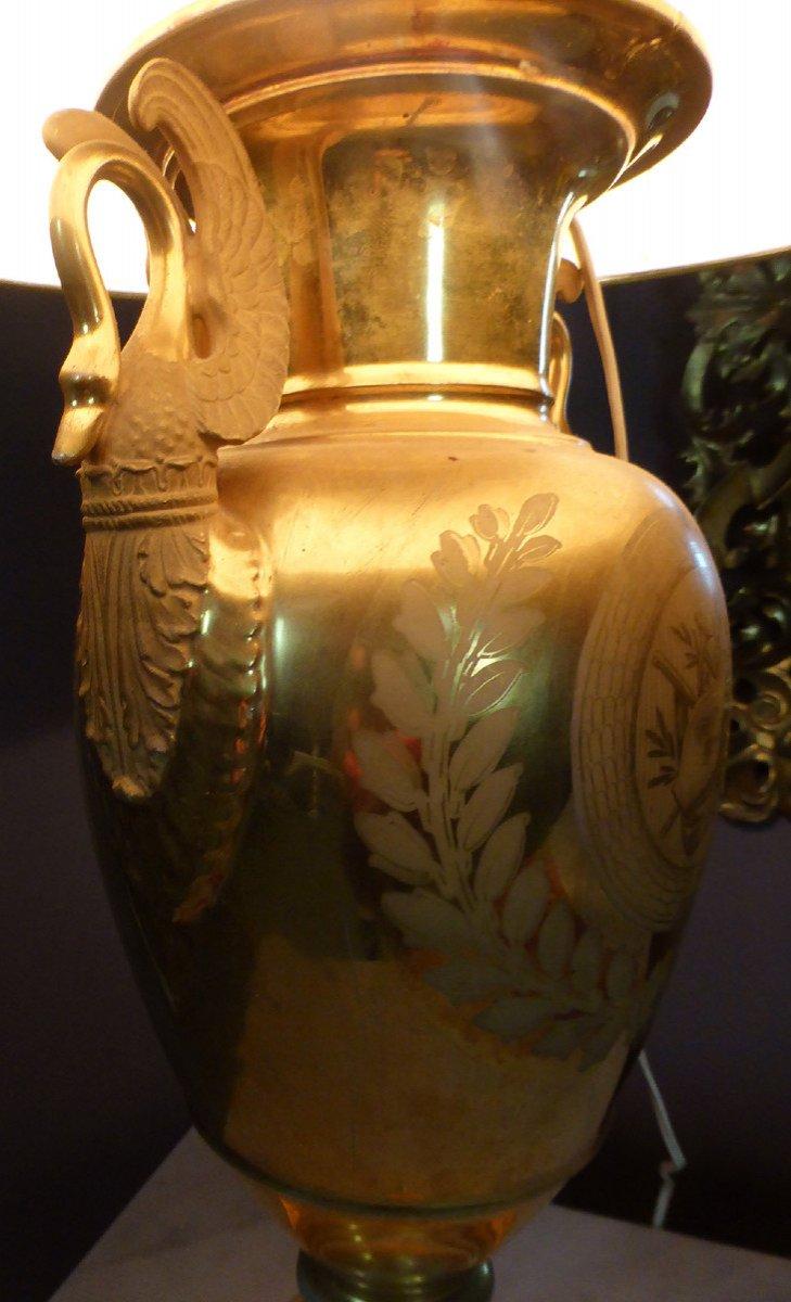 Lampe En Porcelaine De Paris De Style Empire-photo-8