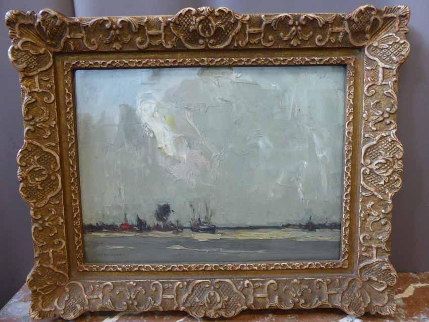 Tableau Marine Signé John Michaux ( 1876-1956 )