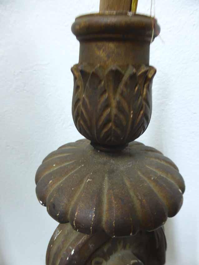 Lustre En Bois Peint Style Rocaille-photo-2