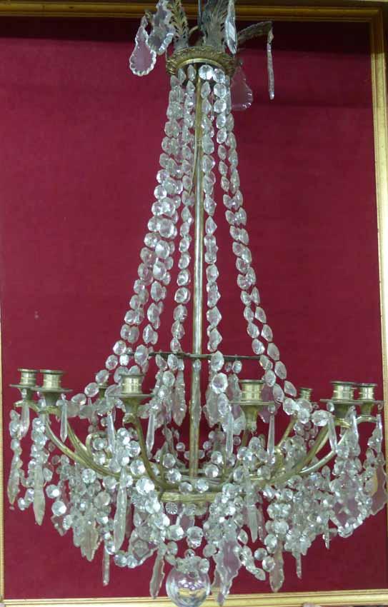 Grand Lustre d'époque Empire, XIXème Siècle