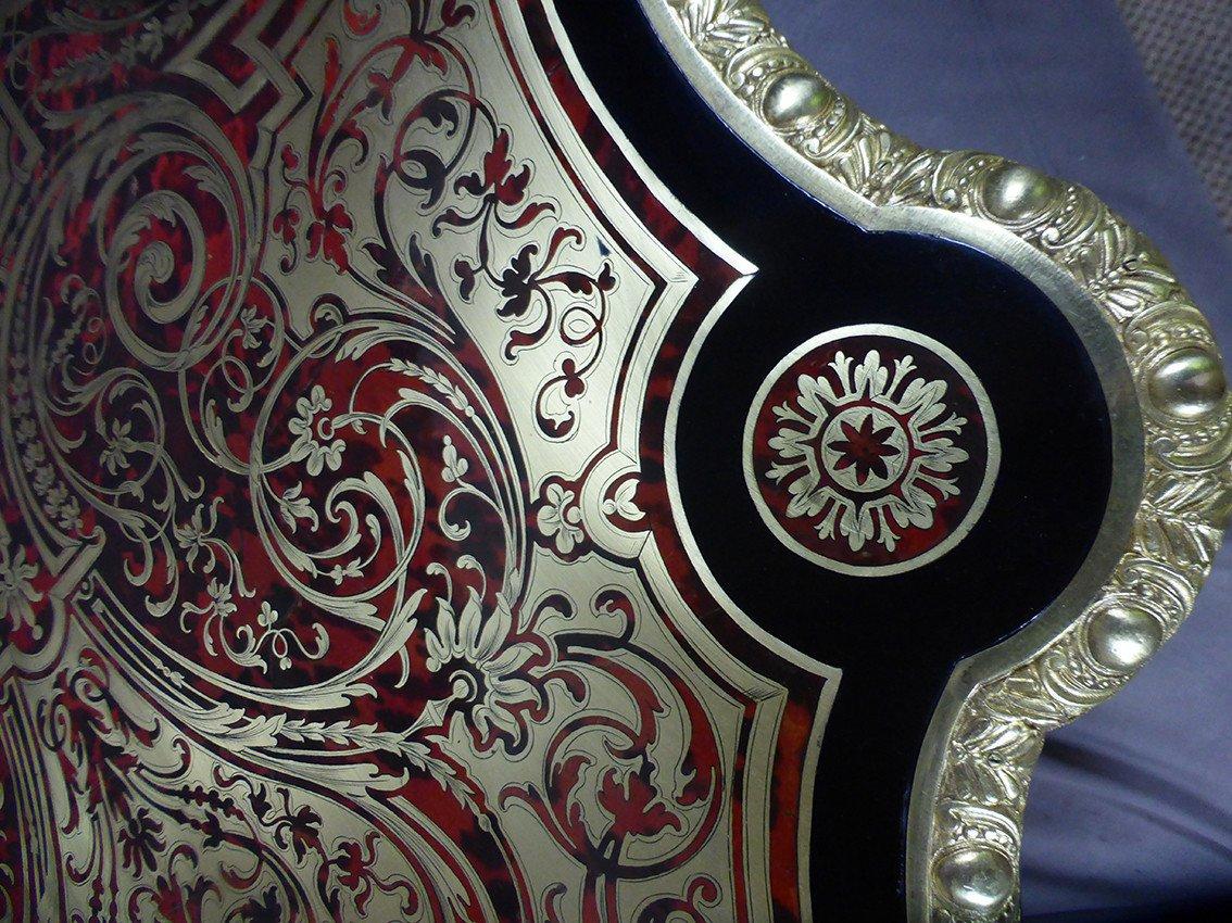 Table En Marqueterie Boulle Signée Diehl Paris -photo-2